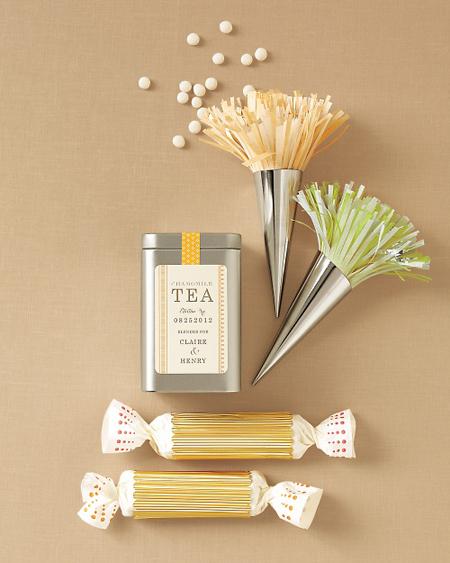 Botanical PaperWorks Plantable Paper Tea Time Favor Ideas