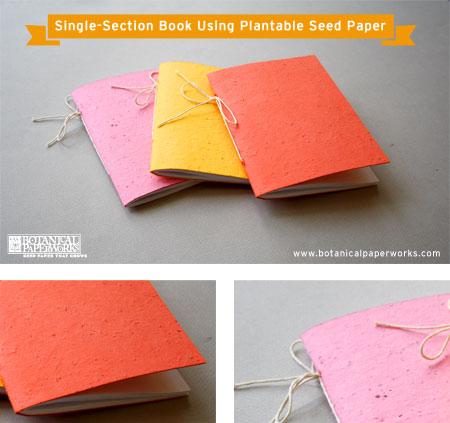 DIY Tutorial Plantable seed paper Book