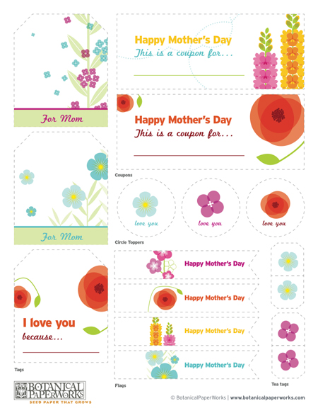 DIY Mother's Day Free Printables Seed Paper