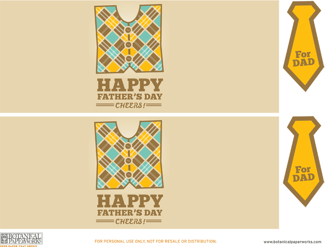 These are great - Free Printable Father's Day Bottle Labels and Tags from the stylists at Botanical PaperWorks!