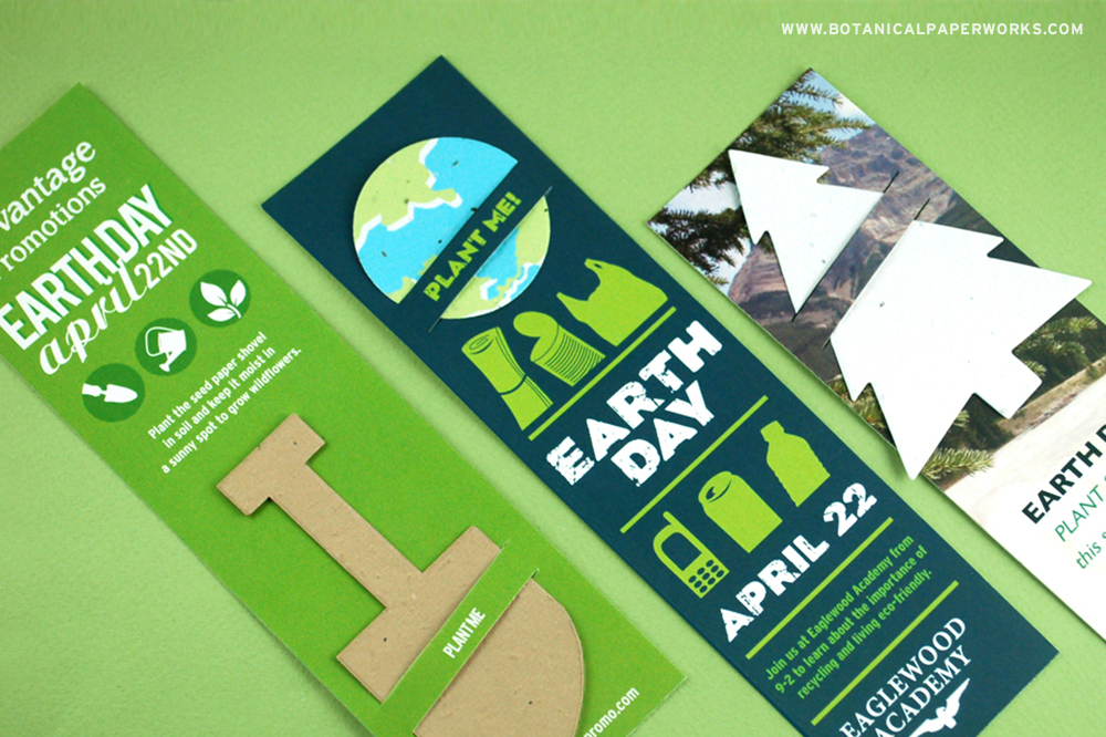 Earth Day Seed Paper Promotions Slot Bookmarks
