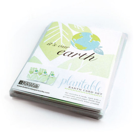 seed paper plantable earth day cards set