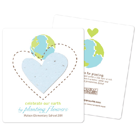 seed paper plantable earth day flat card