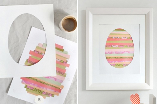 Take a look at a variety of Easter craft project ideas including this pretty wall art idea.