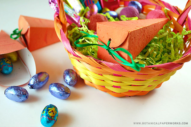 Make this Easter the funnest one yet with these craft project ideas including these seed paper carrot boxes that grow real carrots.