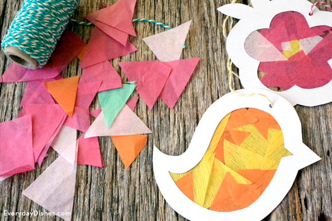 Get Easter craft project ideas including these beautiful and easy-to-make suncatchers.