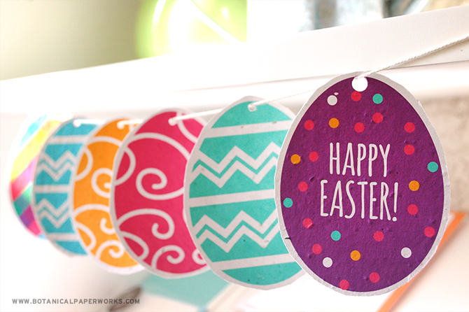 We love the idea of using these colorful and vibrant Easter Egg Printables to make a fun piece of garland!
