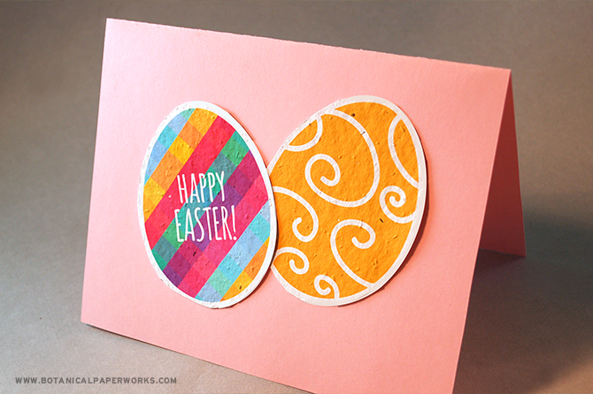 Tape these Easter Egg Printables on a pastel page of card stock for a gorgeous DIY Easter greeting card for family and friends.