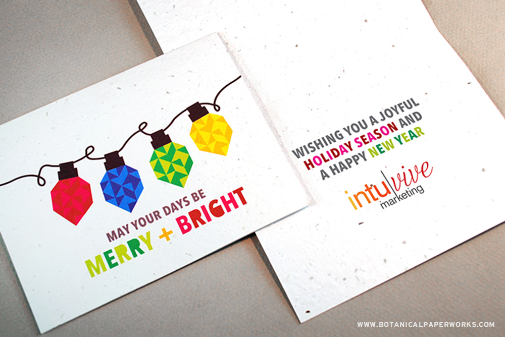 Add your logo and choose an inside message for this eco-friendly card that grows.