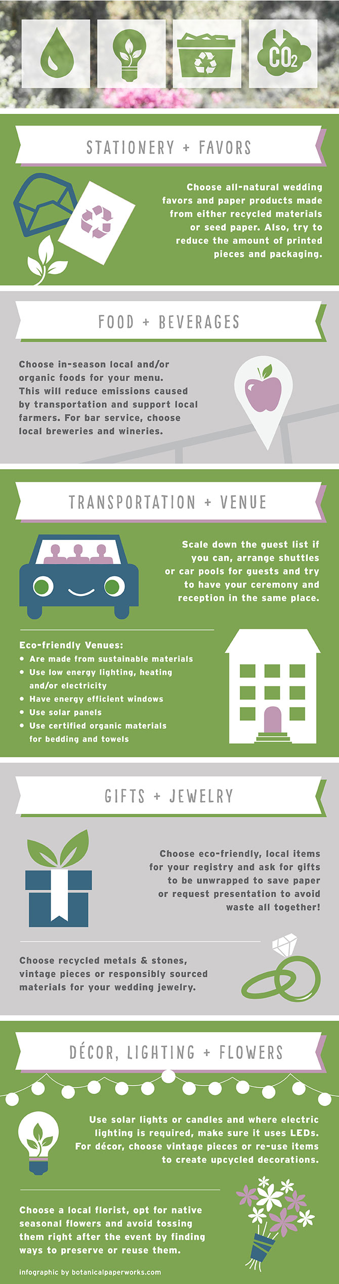 Wedding Industry Waste + Eco-friendly Wedding Tips | Plan an eco-friendly wedding with the facts + expert tips in this helpful infogrpahic. #ecofriendlyweddings #ecofriendly #infographic #bridetobe