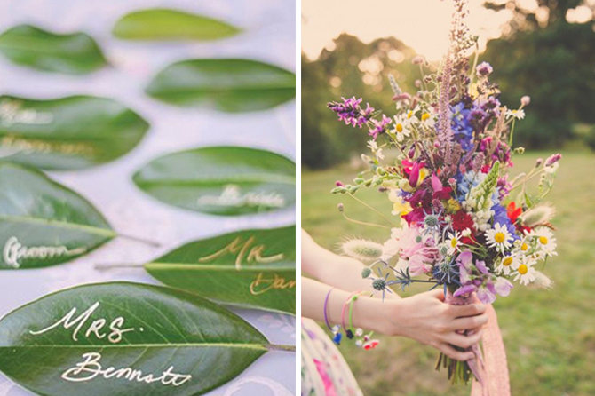 Are you looking for more ways to plan an eco-friendly wedding? Take a look at this inspiration board to see TONS of beautiful ideas for reducing waste on your big day.