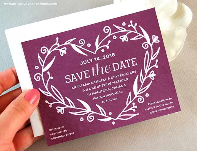 The elegant Fancy #Vintage Seed Paper #SaveTheDates will announce your #wedding date in a stylish and truly #ecofriendly way. See more from our NEW collection here!