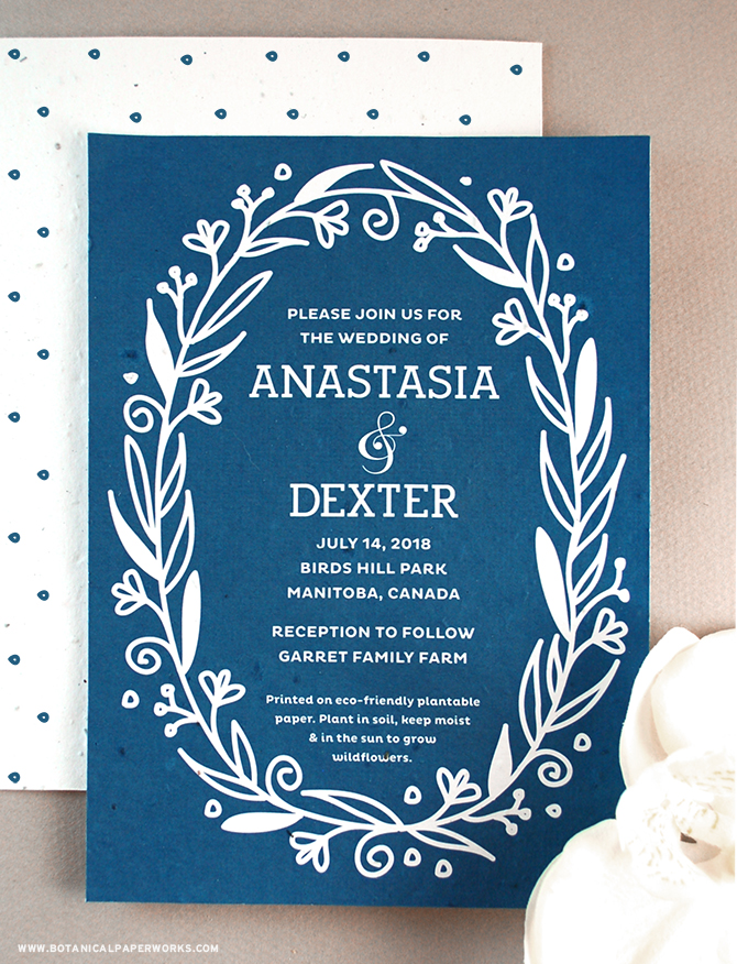 With whimsical vines and florals details bordering traditional #typography, the Fancy Vintage #SeedPaper #WeddingInvitations are the perfect combination of sophistication and charm. See more from our NEW #wedding collection here!