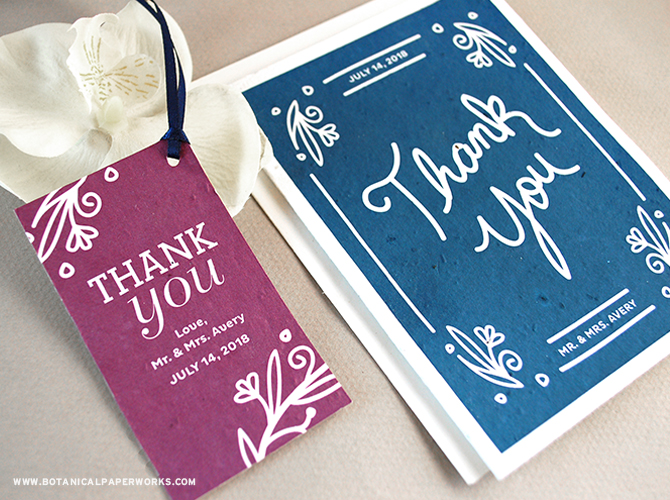 Perfect for eco-conscious couples, the Fancy #Vintage Seed Paper #WeddingFavor Tags and Thank You Cards will share more of the elegant essence with your loved ones. See more from our NEW #wedding collection here!