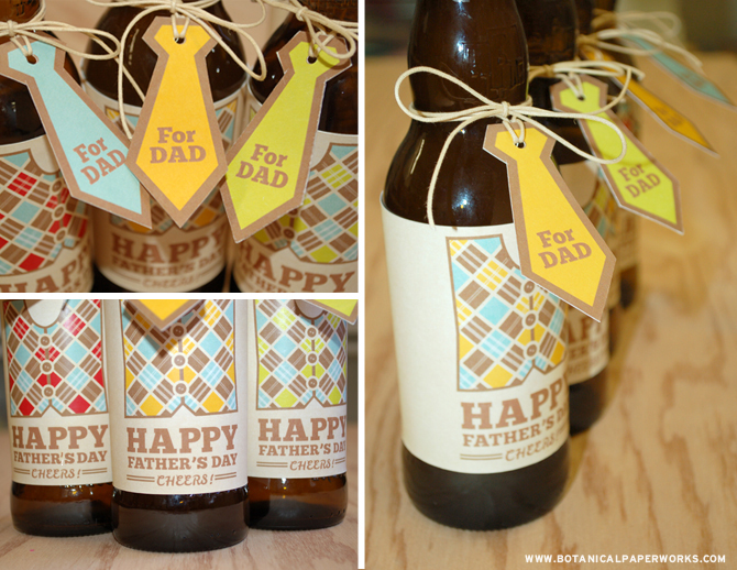 Love these! Free Printable Father's Day Beer labels and tags from the stylists at Botanical PaperWorks.
