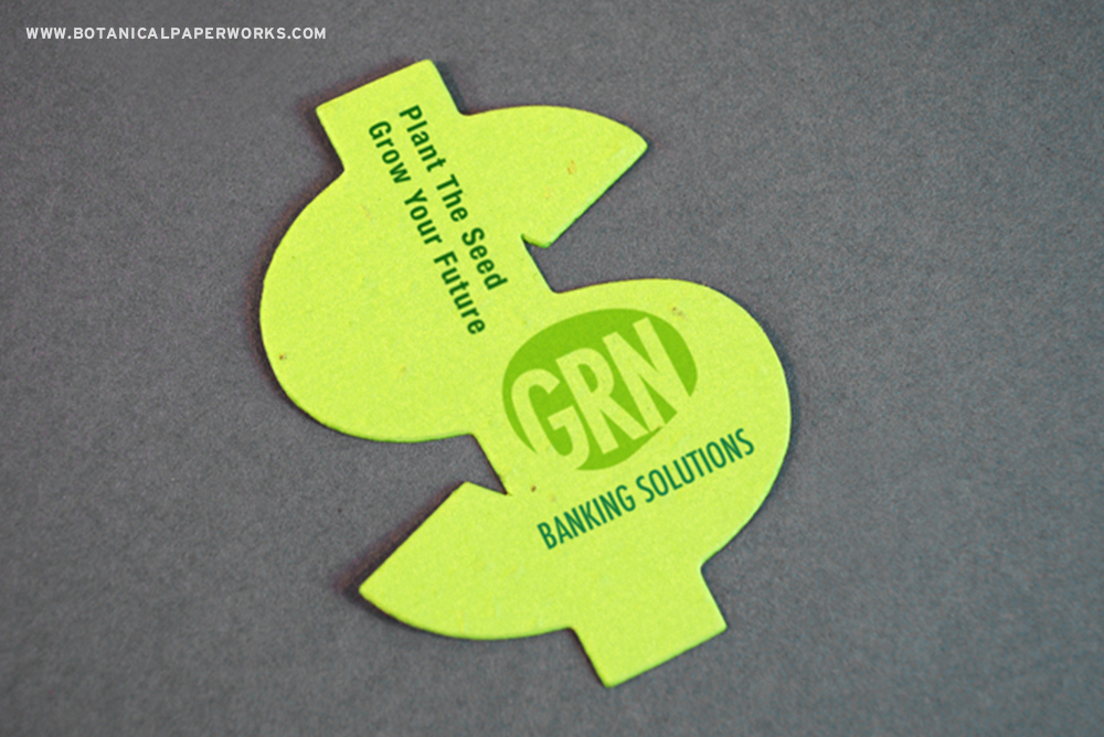 Add your logo and a short message to this creative pocket sized promotion that gives the gift of flowers.