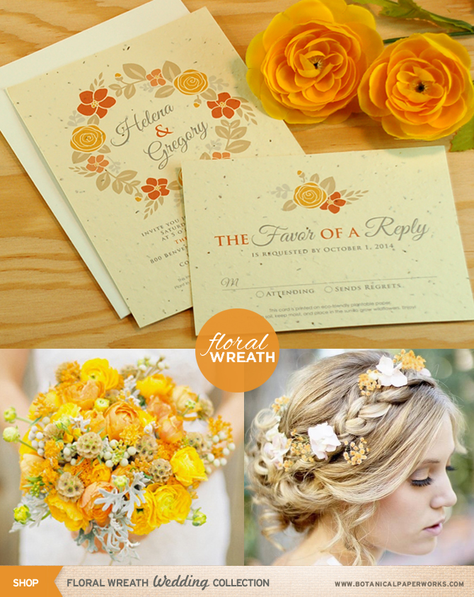 Gorgeous florals wreaths and bouquets will be all the rage for Fall weddings, here are some great ideas from the stylists at Botanical PaperWorks to help you plan your Fall wedding