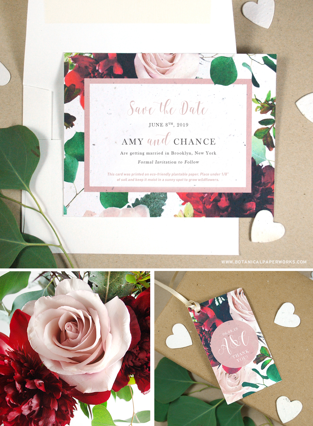 Shop that latest floral wedding invitations collection made with eco-friendly seed paper that grows real flowers!