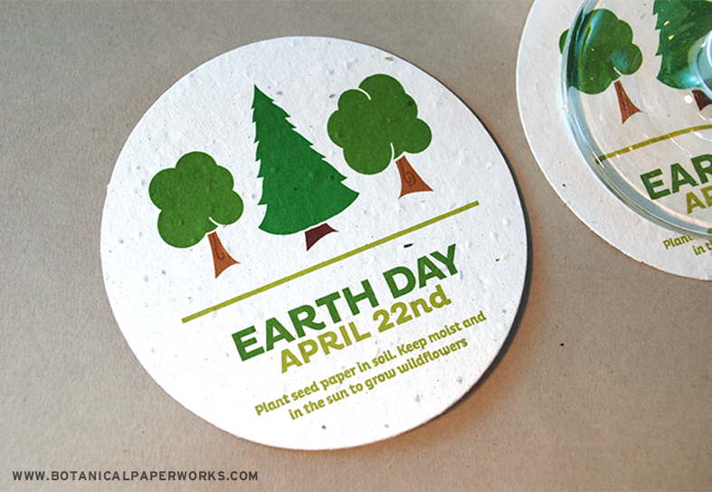 Clients will love adding a punch of color to their desks using these coasters with FREE Earth Day Graphics!