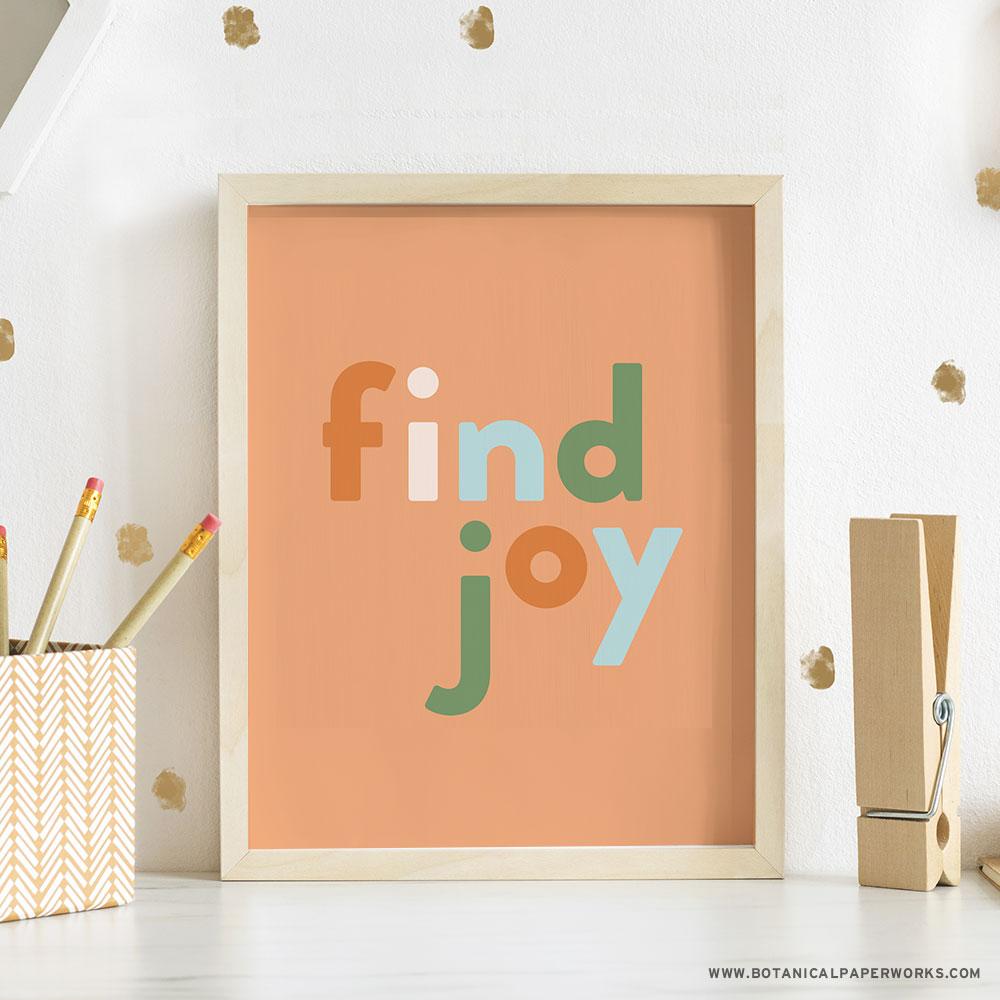 Find Joy Home Office Wall Art