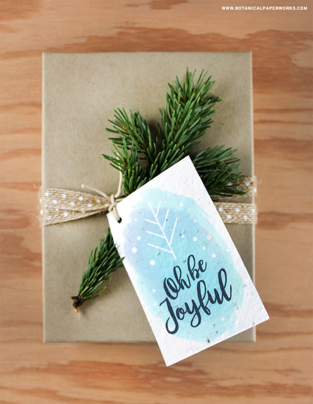 Go green with you gift giving this year! Download a free printable to make these Seed Paper Tags and get eco-Friendly gift wrapping tips.