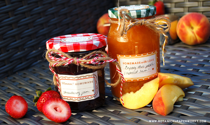 Fun and colorful like fruit, these FREE printable canning labels are perfect for jams.