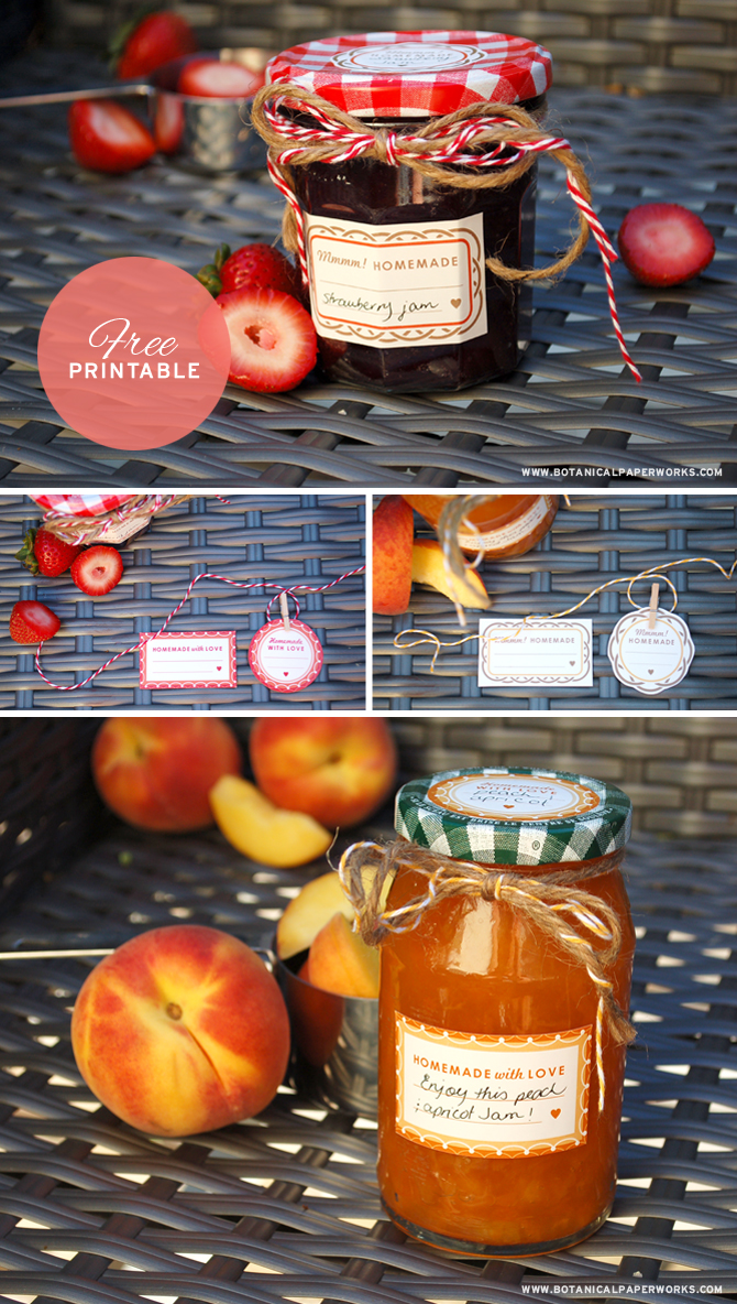 Dress up your homemade goodies with these fun free printable canning labels, they're perfect for homemade jams!