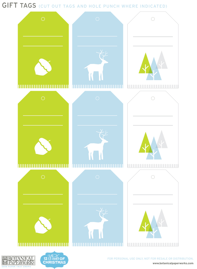 Week 7 of the 12 Weeks of Christmas is here with some great Free Printable Holiday Gift Tags and Wrapping Paper