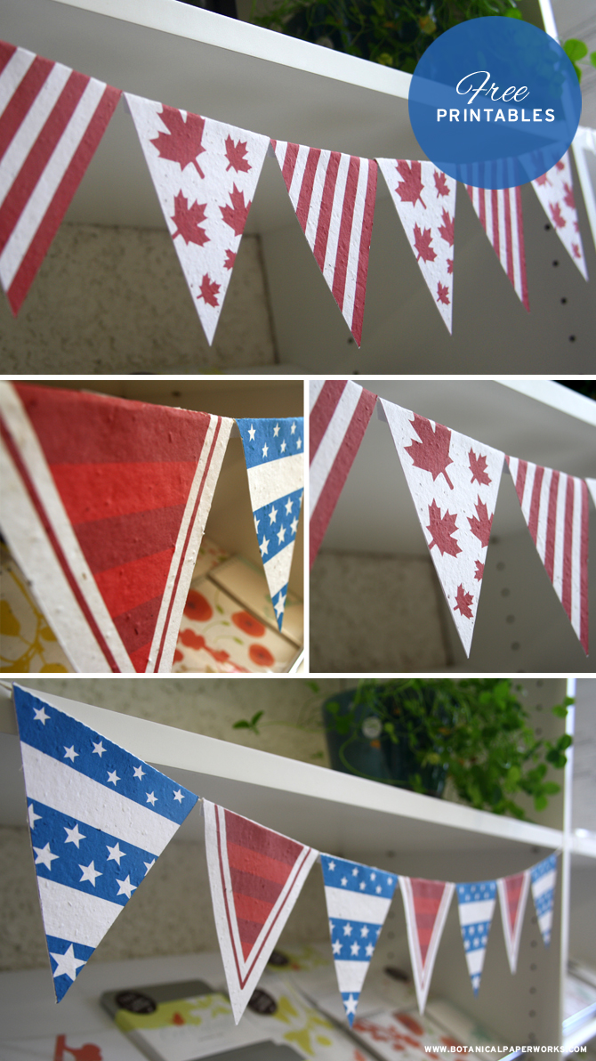 Adorable Canada and Independence Day Free Printables - Great decorations for your big celebrations!