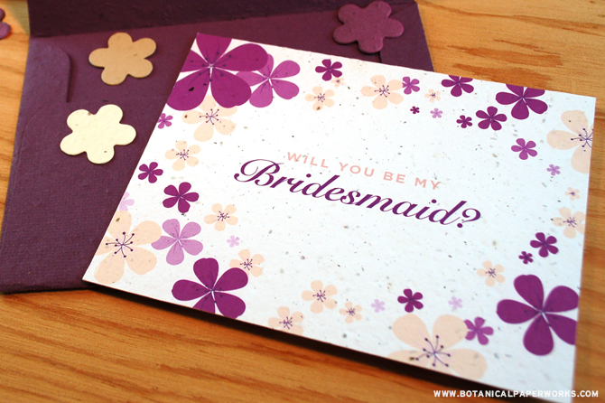 Ask your best friends the most important question of all with these gorgeous Seed Paper Confetti-filled Cards!
