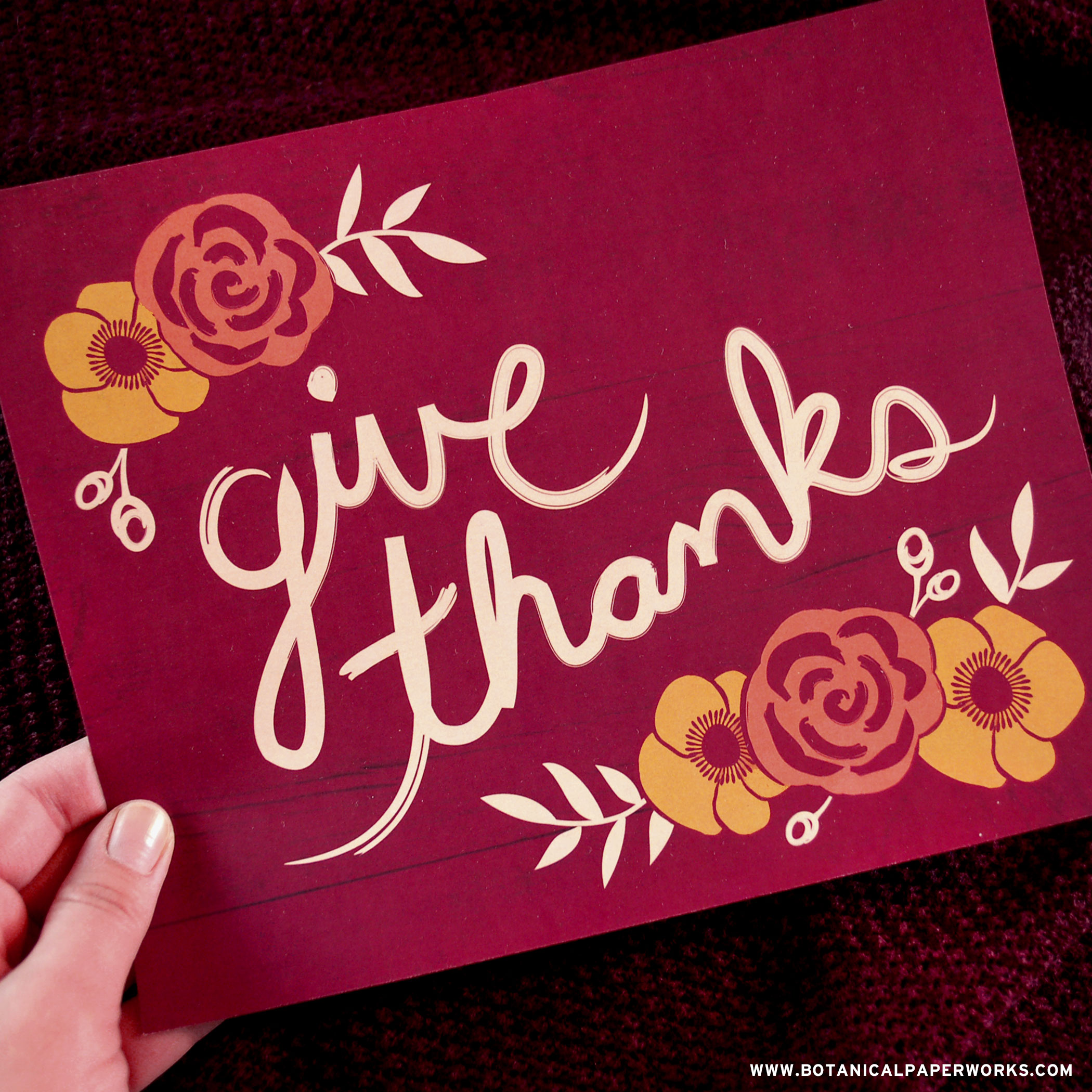 This #freeprintable #wallart captures the rustic feeling of #autumn and will remind your family to be #thankful everyday.