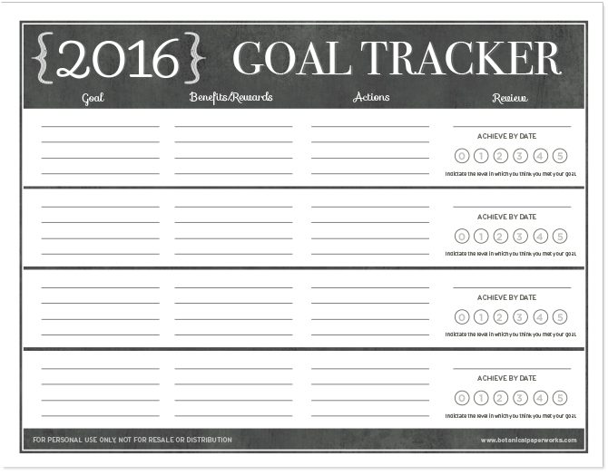 Download this FREE 2016 Goal Tracker now and make this year the most successful one yet!