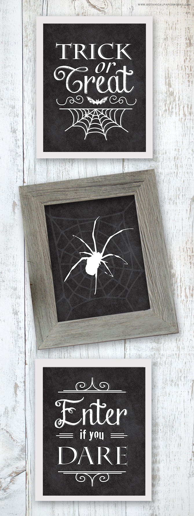 Doing #Halloween on a #budget this year? Get creative and still make your home one of the spookiest on the block using these 3 wall art #freeprintables!