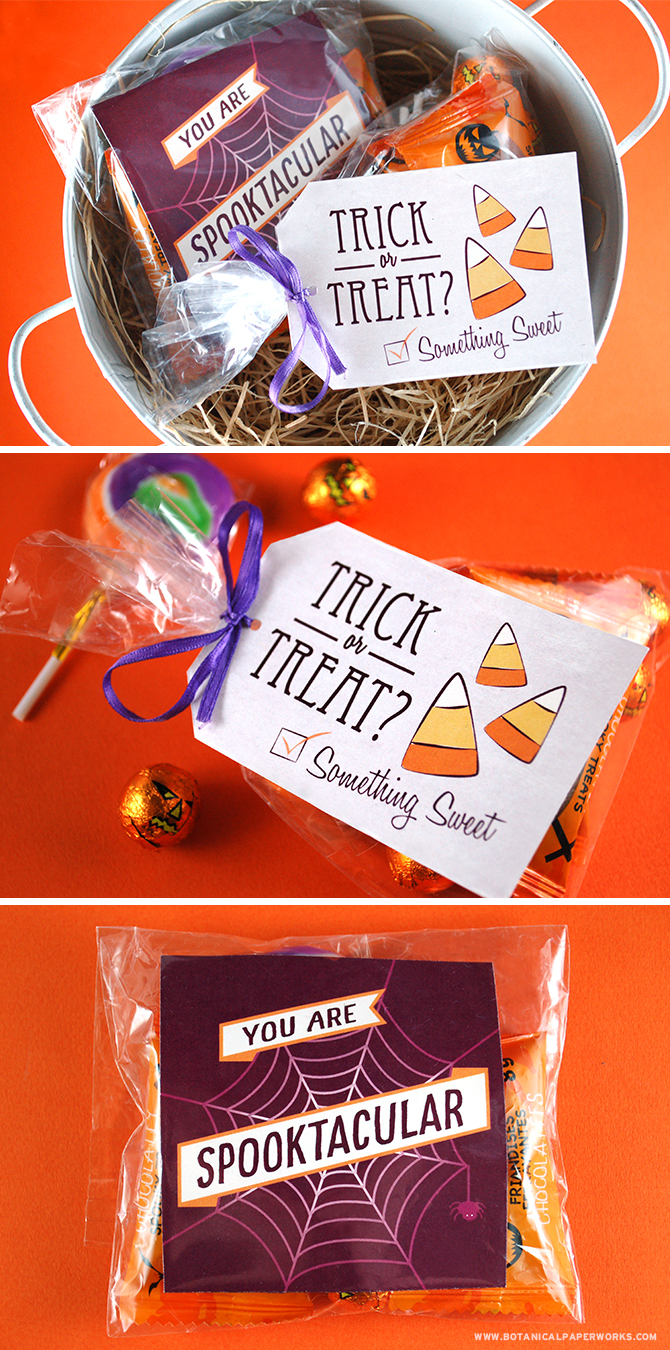 Download and print these FREE printable labels and tags to dress up goodie bags for halloween parties and handouts this year.