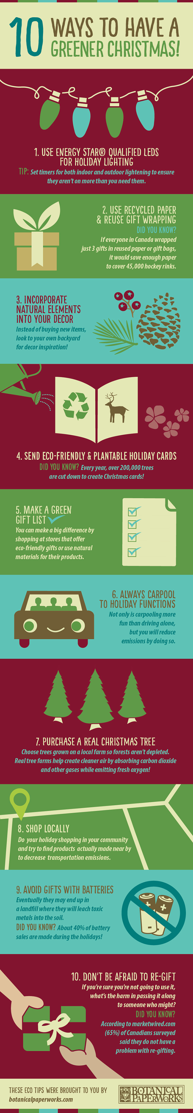 You can make the holiday season a lot more #eco-friendly with a few small changes - 10 Ways To Have A GREENER #Christmas This Year!