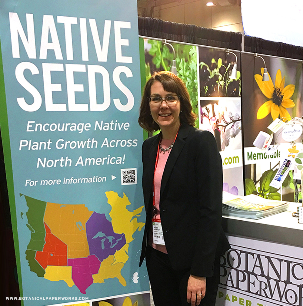 Botanical PaperWorks introduces NATIVE SEEDS for their #seedpaper #promotionalproducts. See more about how they delivered their message at the PPPC National Convention.