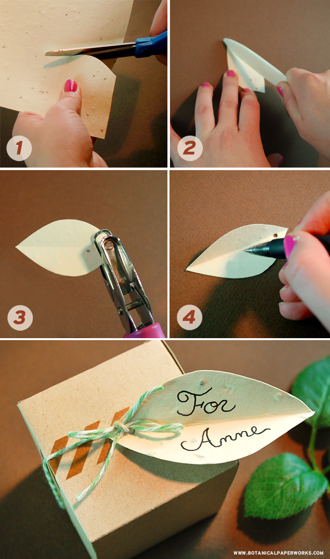 Make beautiful leaf tags in this easy tutorial that uses herb seed paper and a dash of creativity.