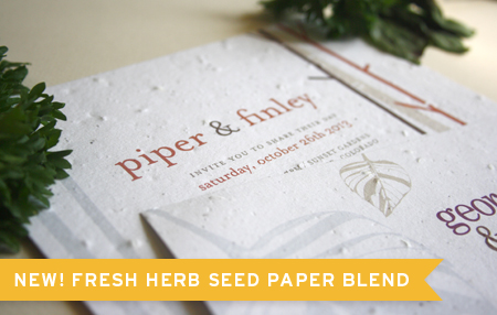 Botanical PaperWorks Presents New Herb Paper Blend for Wedding Invites and Save-The-Dates