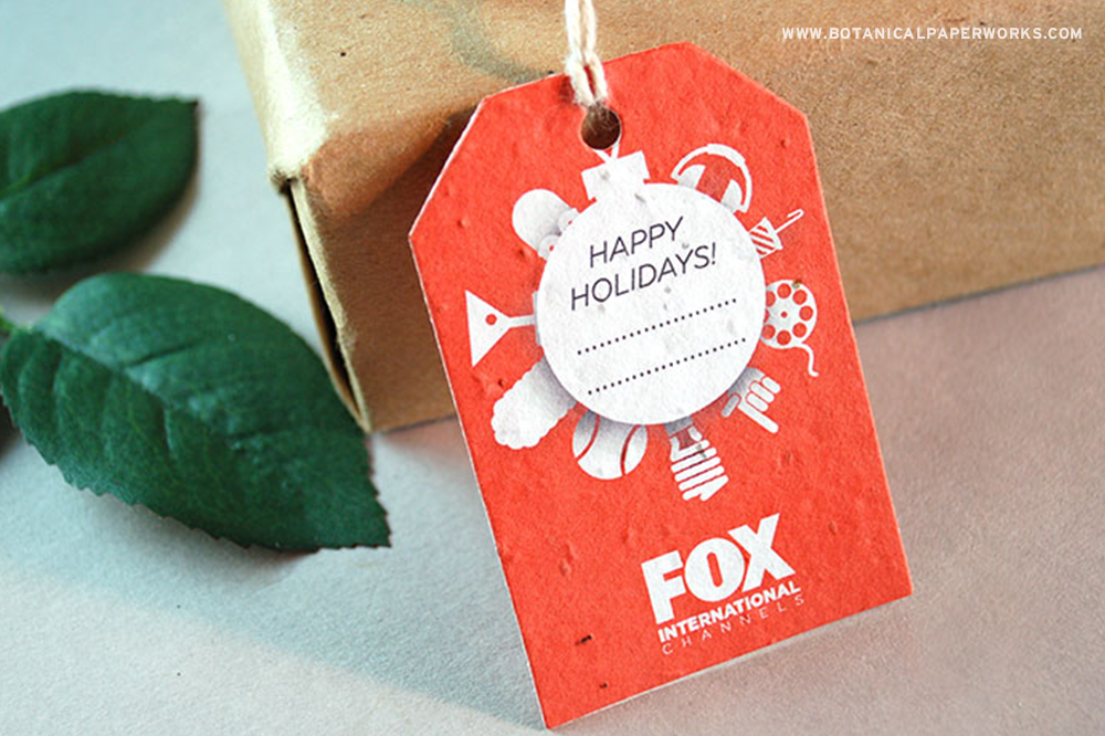 No matter what kind of promotional product you're sending out this Christmas, the versatile Seed Paper Hang Tags will make them extra special while leaving no waste behind.