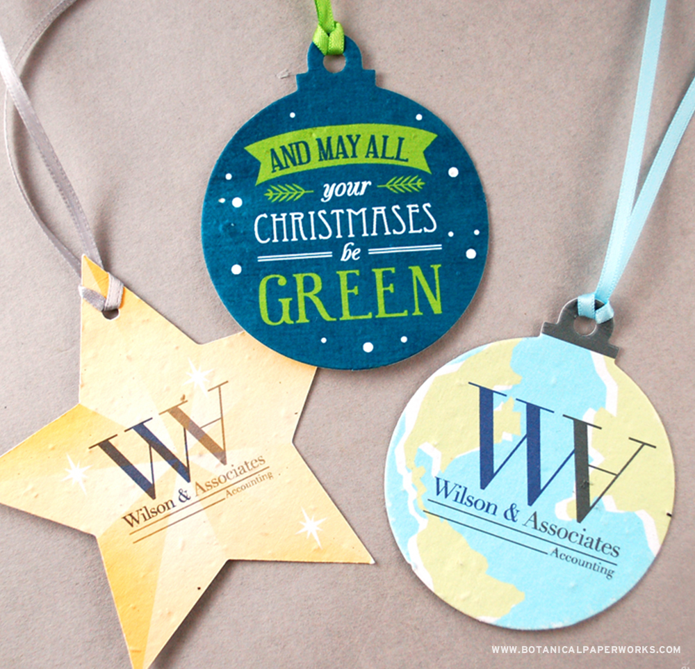 Memorable and completely versatile, #SeedPaper Holiday Ornaments are a unique alternative to traditional holiday ornaments because they can be planted to grow real wildflowers!
