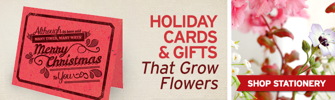 Browse through tons of seed paper greeting cards and gifts by BotanicalPaperWorks.com