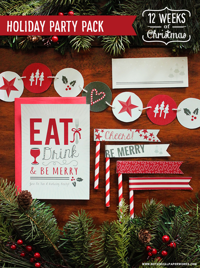 Plan the perfect holiday party with this fun pack of FREE printables that includes a planning checklist so you won't miss a single detail.