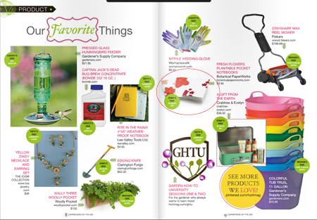 Botanical PaperWorks Feature in Horticulture Magazine