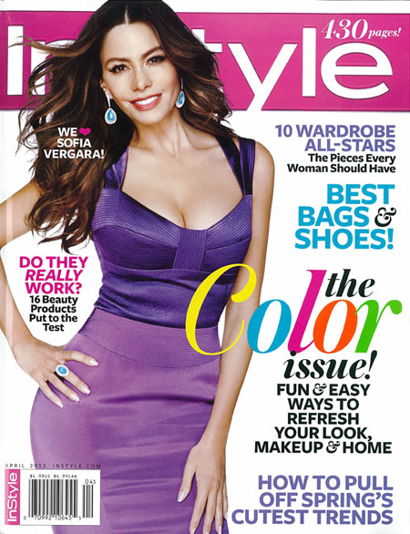 InStyle Magazine cover April 2012 seed paper