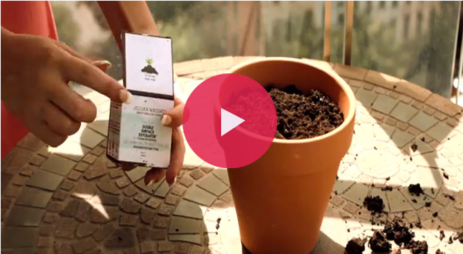 Watch this great video from Jillian Wright Cosmetics on how you can plant her seed paper packaging to grow beautiful wildflowers.
