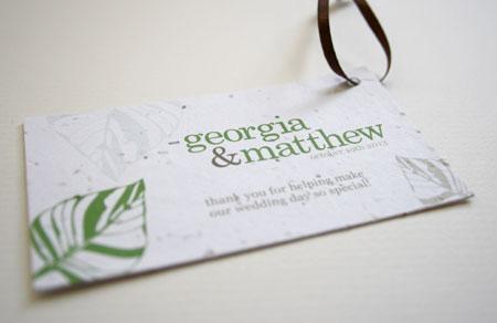 leaf plantable favor tag