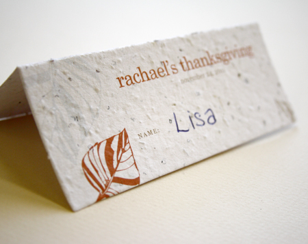 Leaf Plantable Place Card