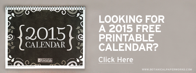 Free printable monthly calendar for 2015