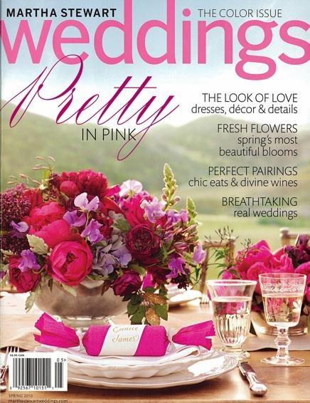 Martha Stewart Weddings featuring plantable seed paper