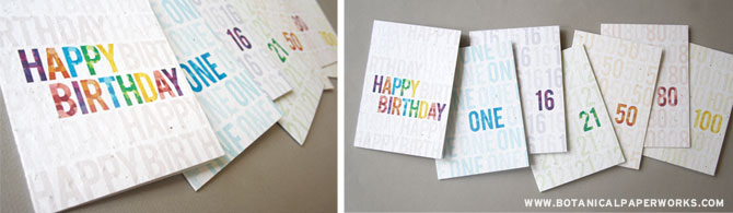 Love this bright and colorful Plantable Milestone Collection from Botanical PaperWorks - there's a card for everything!